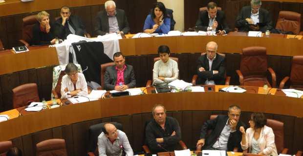Les forces nationalistes sur les bancs de l'Assemblée de Corse lors de la précédente mandature.