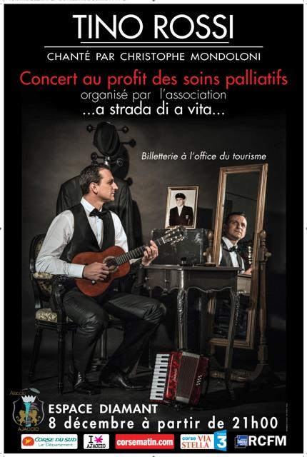 Christophe Mondoloni chante Tino Rossi au profit des soins palliatifs à Ajaccio