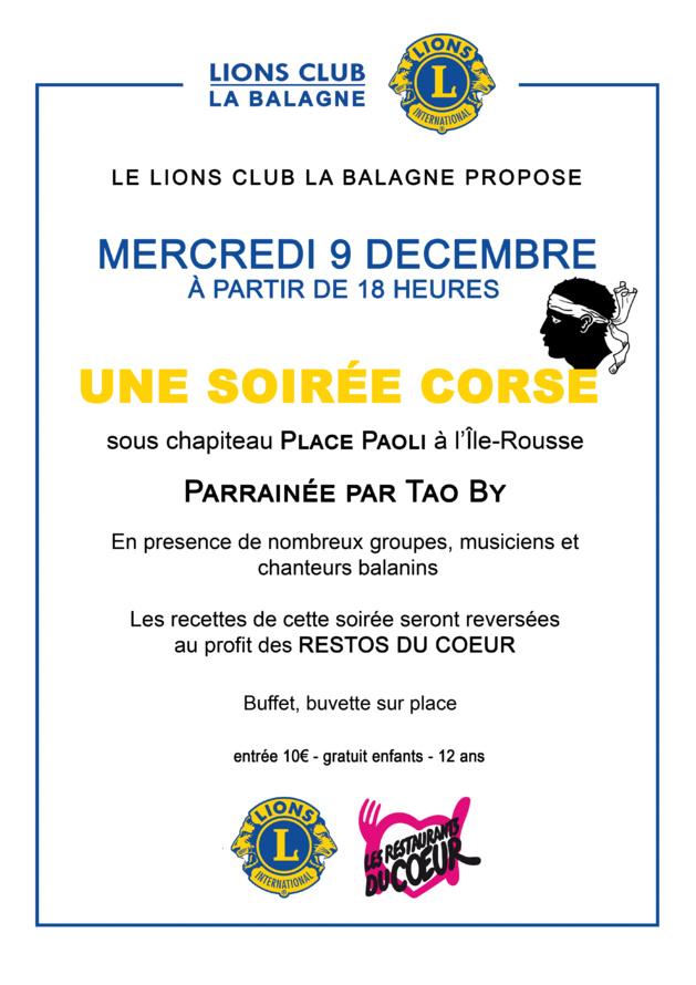 Le Lions Club la Balagne solidaire des Restos du cœur