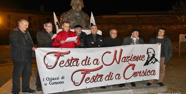 """Le cercle de réflexion """"I chjassi di u cumunu"""" a célébré à Ajaccio  A Festa di a Nazione"""