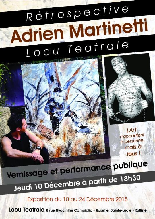 Locu Teatrale reçoit Adrien Martinetti pour sa dernière exposition de l'année en Corse