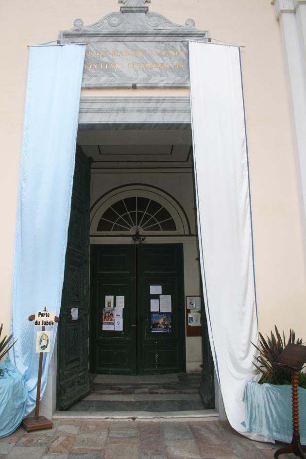 La porte sainte à la Cathédrale de Bastia