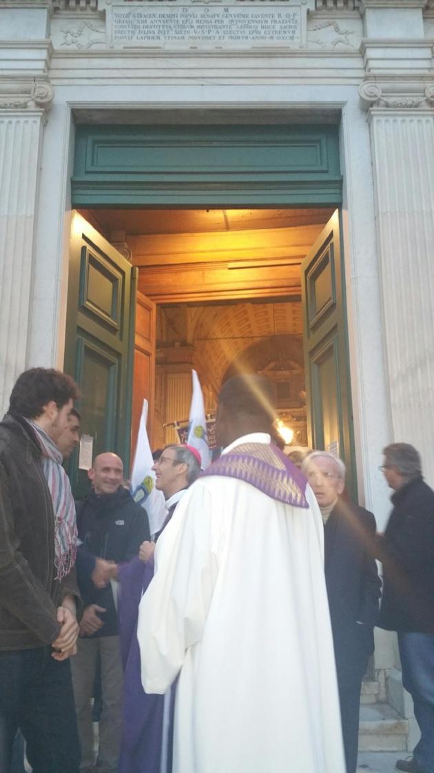 L'ouverture de la porte sainte à la Cathédrale d'Ajaccio