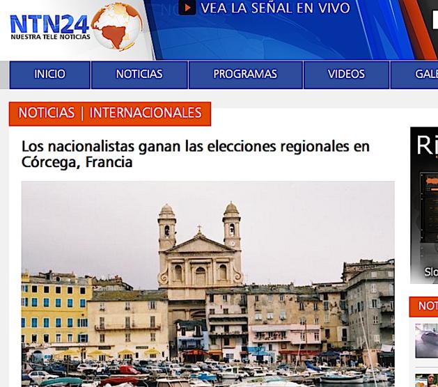 La presse internationale souligne la victoire des Nationalistes corses