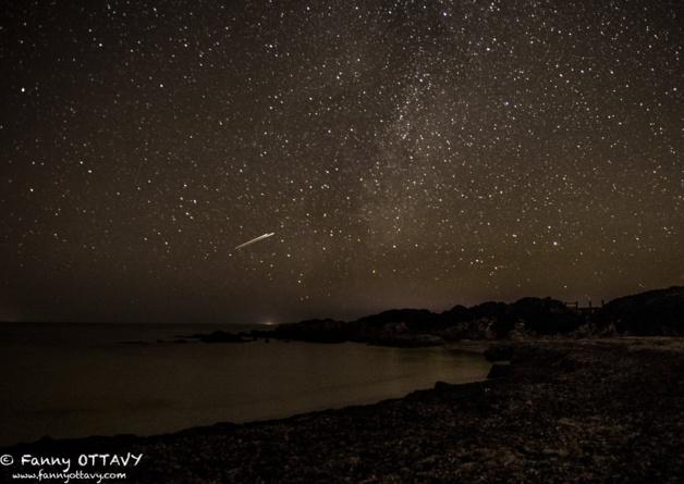 Ajaccio :  Essaim d'étoiles filantes au-dessus des Sanguinaires !