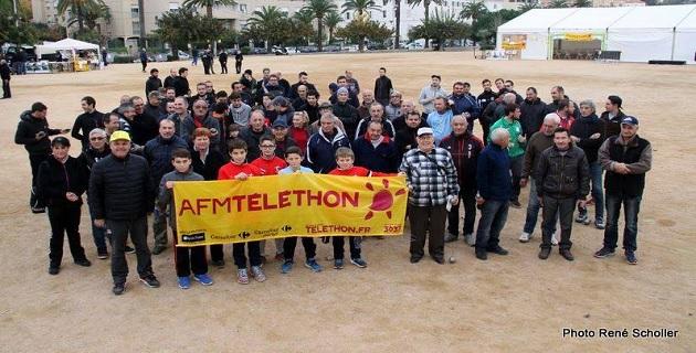 Téléthon 2015 :  1 680 euros reversés à  Ajaccio par les boulistes de Corse-du-Sud