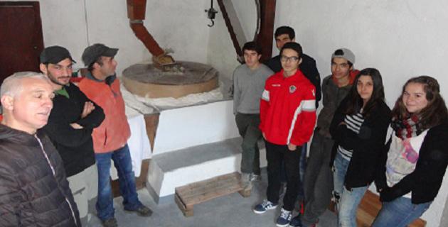 Visite du moulin en activité pour les élèves en formation cuisine au LP Fino