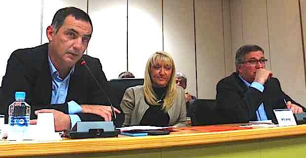 Gilles Simeoni, ancien maire de Bastia, Emmanuelle De Gentili, 1ère adjointe, et Jean-Louis Milani, 2ème adjoint.