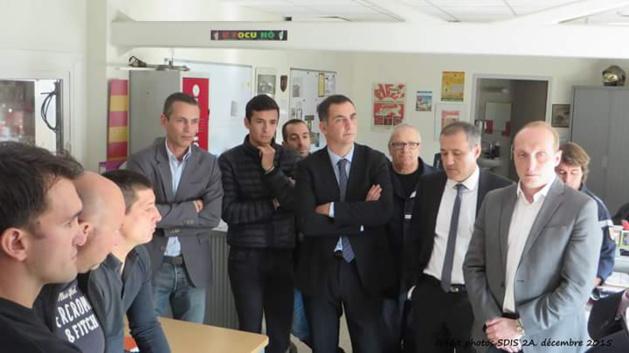 Agression des Jardins de l'Empereur : Les élus reçus à la caserne des pompiers d'Ajaccio