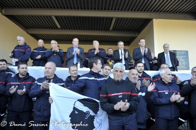 La caserne des pompiers d'Ajaccio, haut lieu de la solidarité : L'appel a l'apaisement largement entendu