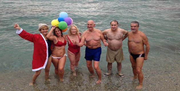 Bastia : Le premier bain de l'année à Ficaghjola