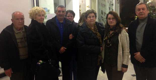 Carine Dispenseri, entourée de quelques commerçants du Polygone, membres du Collectif, à la sortie du dernier Conseil municipal de Bastia.