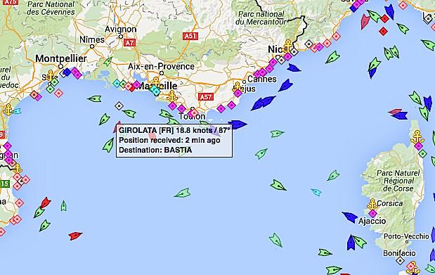 """Le """"Girolata"""" a pris la mer. Le """"Jean-Nicoli"""" bloqué à Ajaccio. Et le """"Stena Carrier""""…"""