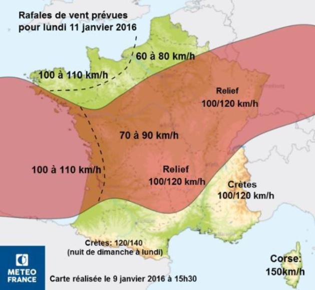 Alerte aux vents violents : La Corse placée en vigilance Orange