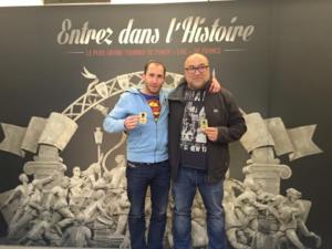 Les vainqueurs (Polo et Jean-Paul, membres du Corsica Poker Club) de la phase finale de ce dimanche, qualifiés pour le tournoi à Paris.