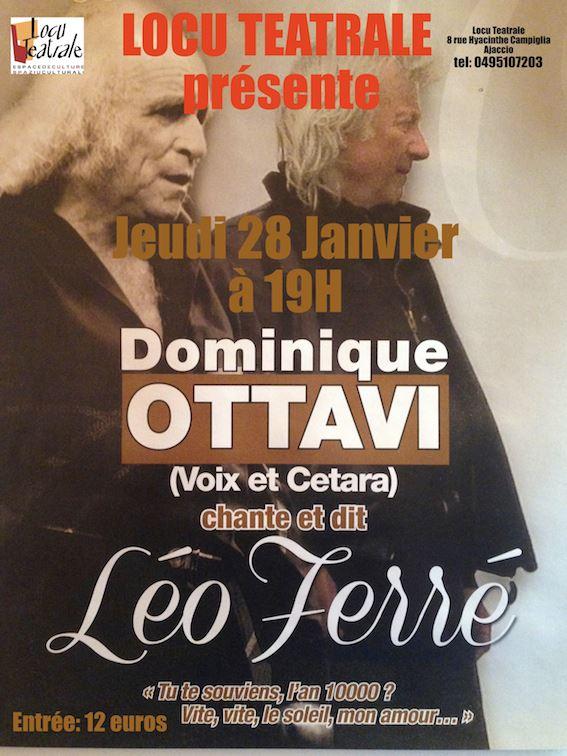 Ajaccio : Dominique Ottavi chante Léo Ferré