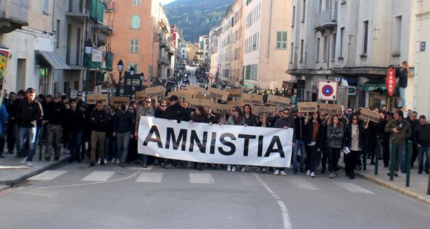 Amnistia : Plus de 500 personnes ont manifesté à Corte