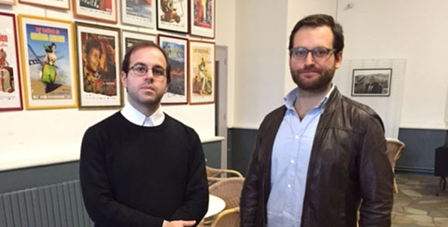 Luigi Palombi et le réalisateur Davide Sibaldi