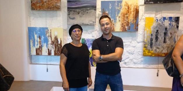 Maro lors d'une récente exposition au Lazaret