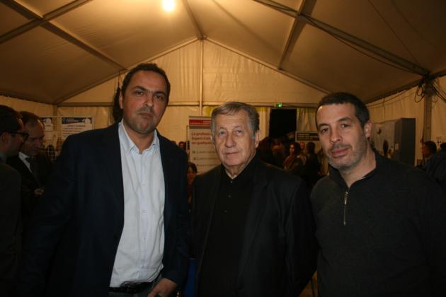 Paul Trojaini, Président de la CCI2B, entouré par Charles Zuccarelli, President Medef Corse et par Dominique Antoniotti Président de la Féderation départemental du Bâtiment