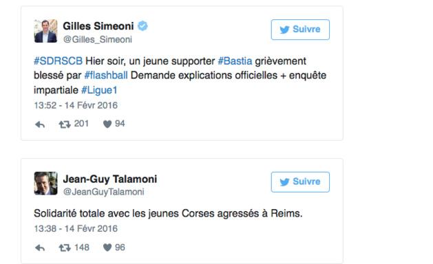 """Reims : Pour G. Simeoni et J.-G. Talamoni """"des comportements provocateurs et brutaux et des violences déterminées des forces de l'ordre"""""""