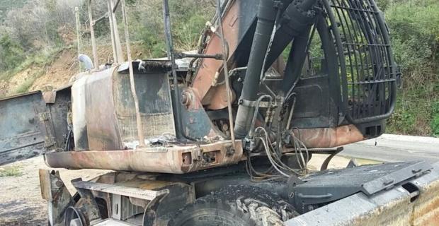 Un nouvel engin de chantier détruit sur la RD 71 à Nessa !