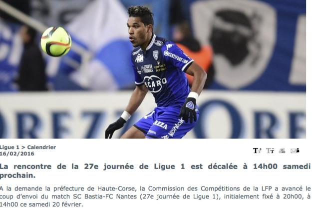 Sporting-Nantes fixé samedi à 14 heures : Le SCB dit non à la LFP !