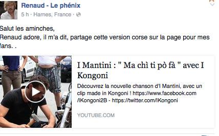 Renaud : Une histoire d'amour avec la Corse