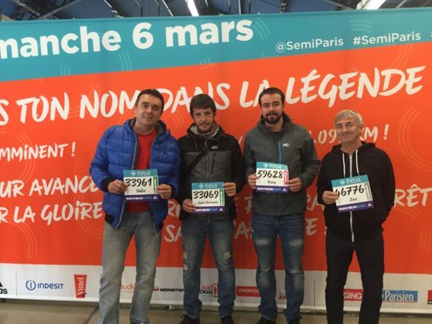 Quatre Calvais au Semi-Marathon de Paris