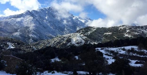 Pluie, vent, grêle, neige et... soleil sur la Balagne !