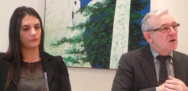 Marie-Hélène Djivas, DGS, et François Orlandi, président du Conseil départemental de Haute-Corse