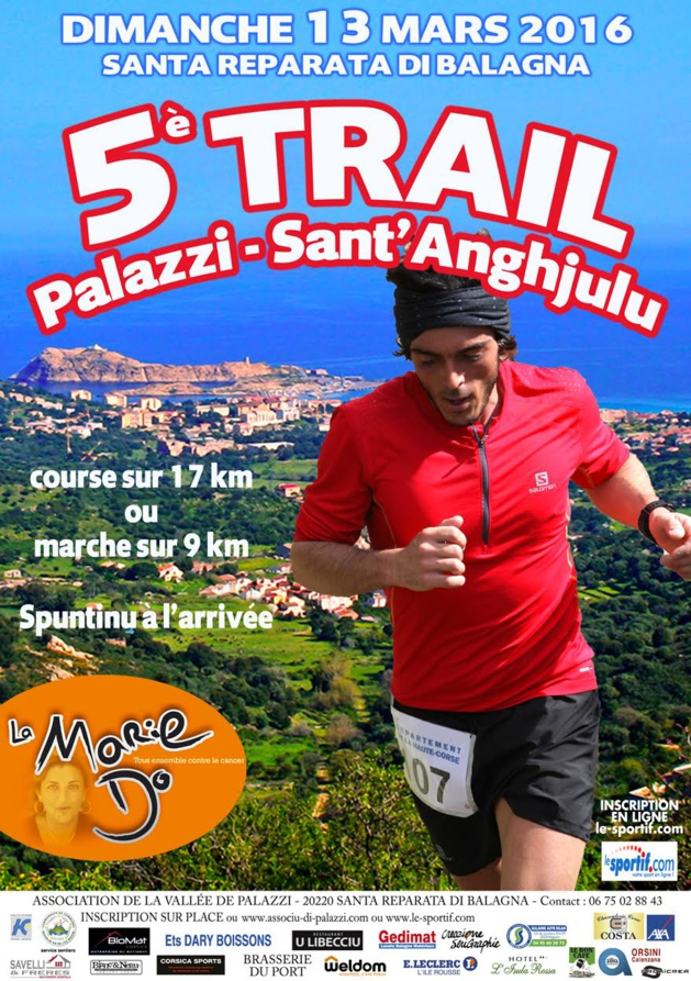 Le Trail Palazzi Sant'Angjulu au profit de La Mari Do