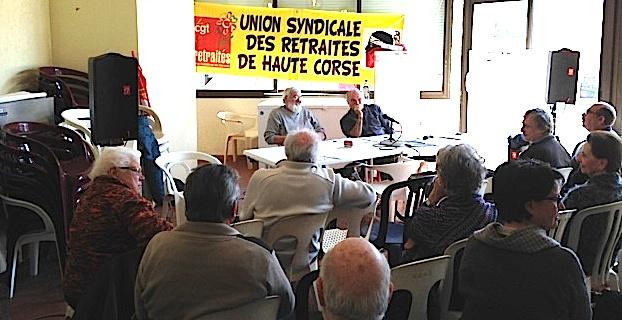 Les inquiétudes des retraités CGT de Haute-Corse