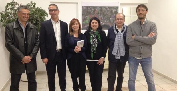 La chanteuse génoise Roberta Alloisio, reçue à la mairie de Bastia