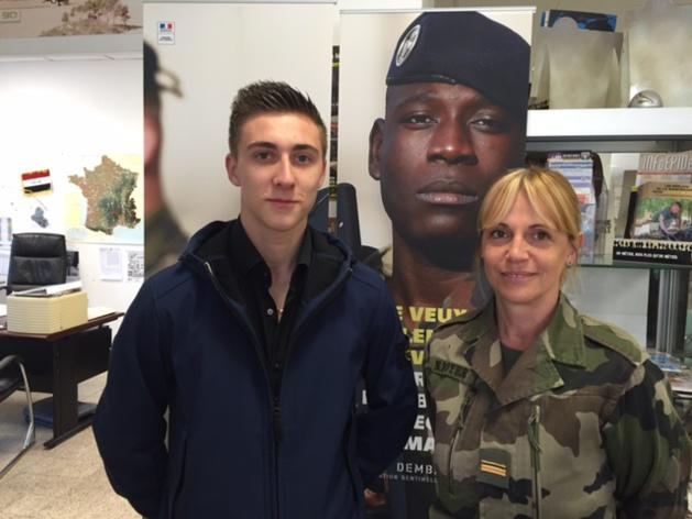 Alexis Capello, 16 ans, prêt à s'engager avec le Major Boyer