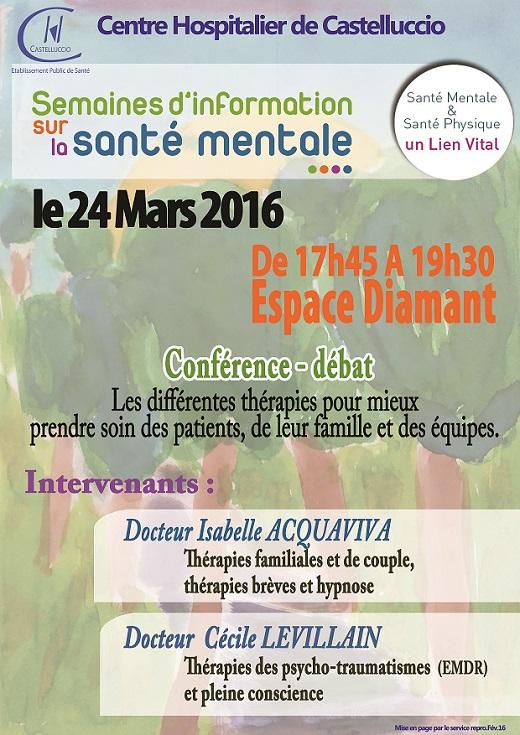 Conférence par les médecins Cécile Levillain et Isabelle Acquaviva