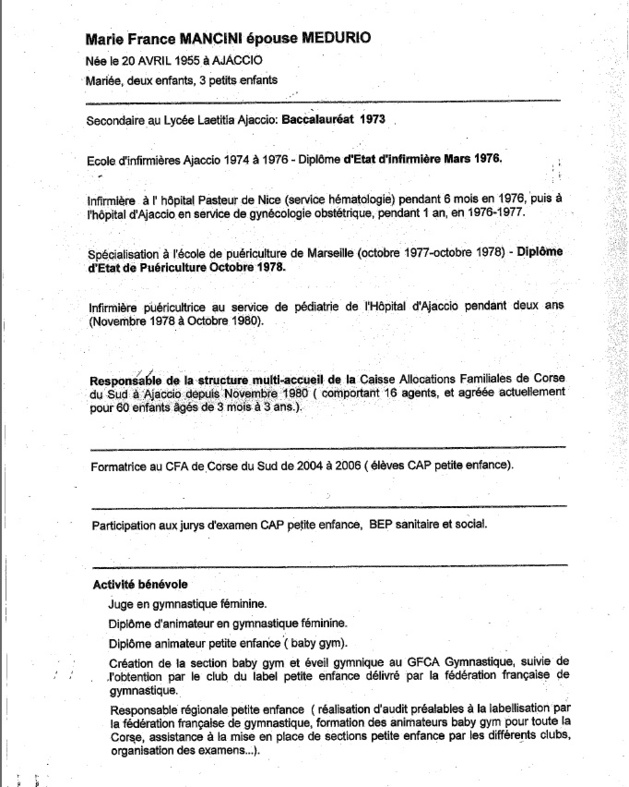 Marie-France Medurio chevalier dans l'ordre national du Mérite