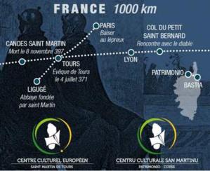 Les chemins français et corses de la Via Sancti Martini.