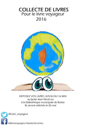 L'affiche faite par les élèves pour collecter les livres