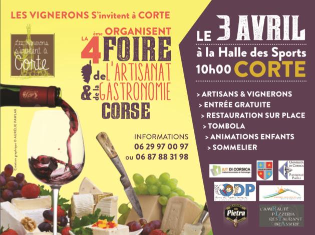 """""""Les vignerons s'invitent à Corte"""" ce dimanche pour une journée festive et gustative"""