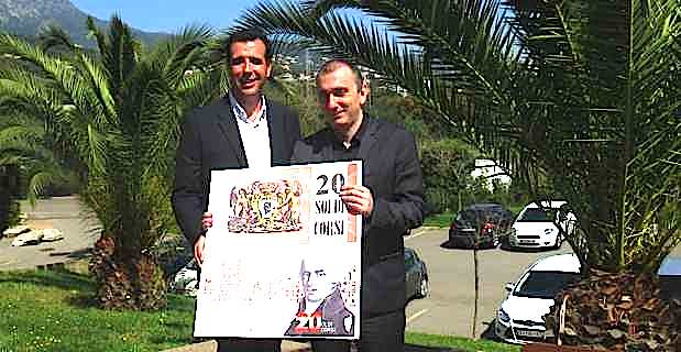 Paul Pierinelli, responsable de l'association Corsica Prumozione, et Jean-Christophe Angelini, président de l'ADEC et conseiller exécutif de la Collectivité territoriale de Corse (CTC).