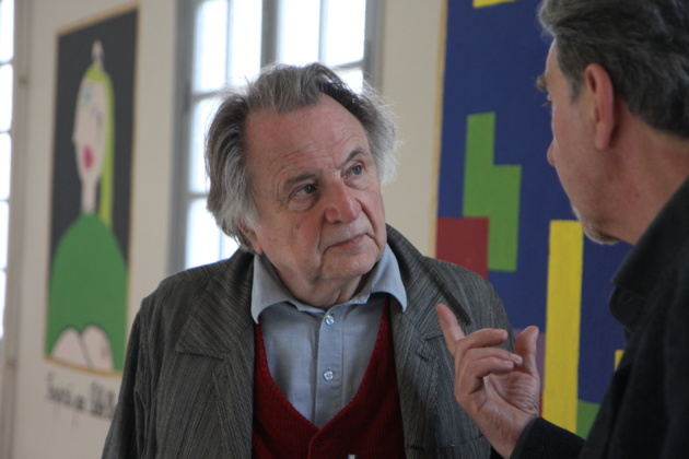 Régis Debray dans les murs du lycée Pascal Paoli (Crédit photo D.S)