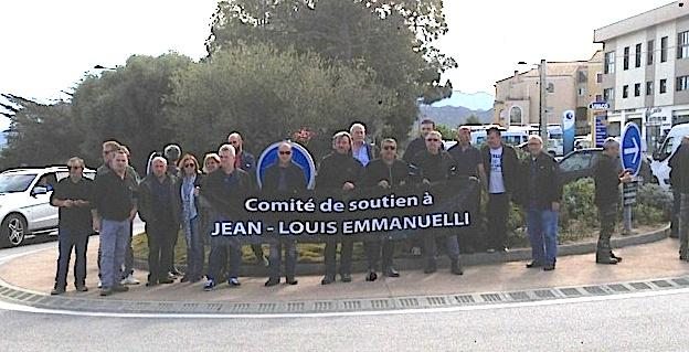 Barrage filtrant à l'Ile-Rousse en soutien à Jean-Louis Emmanuelli