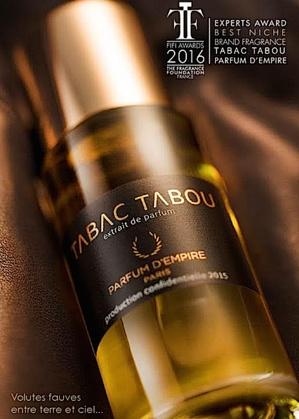 "Le parfum ""Tabac Tabou"" de Marc-Antoine Corticchiato Fifi Awards 2016"