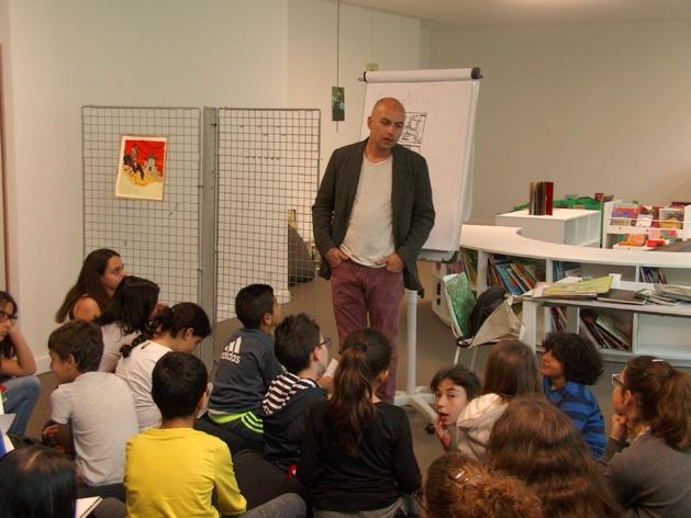 Bastia : Gwen Keraval s'illustre devant les collégiens