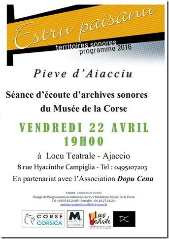 Séance d'écoute d'archives sonores du Musée de la Corse