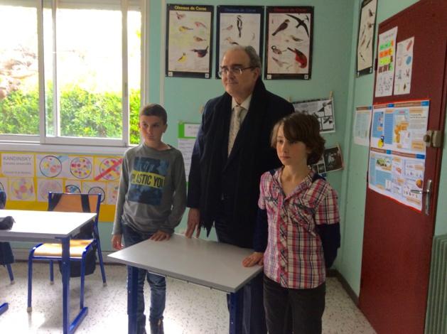21ème Parlement des enfants : Le CM2 d'Arena-Vescovato reçoit le député Paul Giacobbi