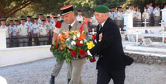 Cérémonie au Carré Militaire de Calvi