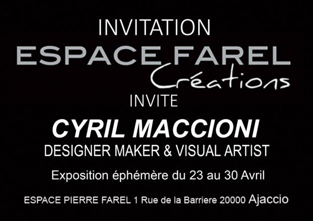 Ajaccio : Cyril Maccioni expose à l' Espace Farel