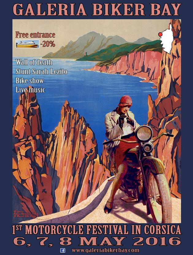 Galeria Biker Bay les 6, 7 et 8 mai à Galeria : La plus grande concentration de moto custom de Corse